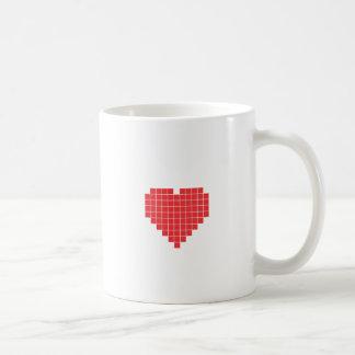 8-bit Heart Basic White Mug