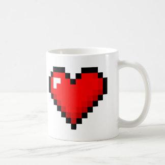 8-Bit Heart: Classic Retro Gamer Mug