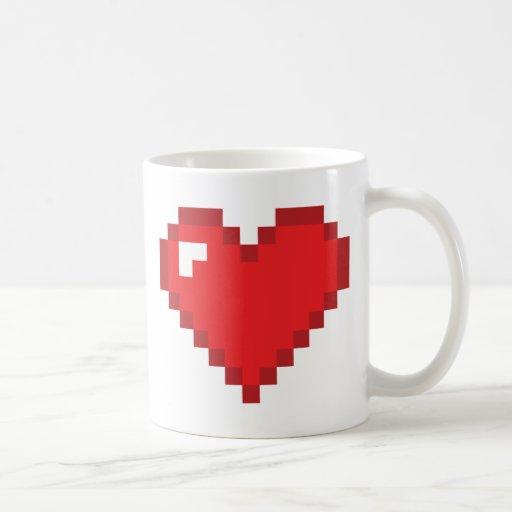 8-Bit Heart Mugs