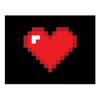 8-Bit Heart Post Card