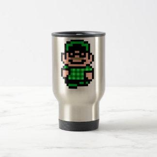 8-Bit Hipster Stainless Steel Travel Mug