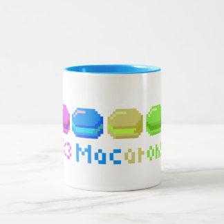8-bit I Heart Macarons Pixels Two-Tone Mug