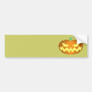 8-bit Jack o Lantern Bumper Sticker