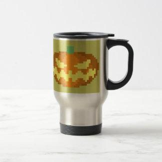 8-bit Jack o' Lantern Coffee Mugs