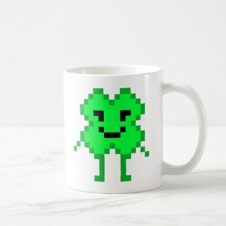 8 Bit Lucky Clover Basic White Mug