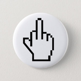 8-Bit Middle Finger 6 Cm Round Badge
