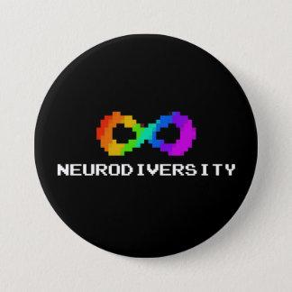 8-Bit Neurodiversity Symbol 7.5 Cm Round Badge