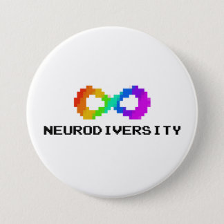 8-Bit Neurodiversity with Text 7.5 Cm Round Badge