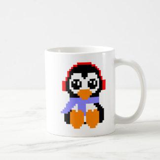 8 Bit Penguin Basic White Mug