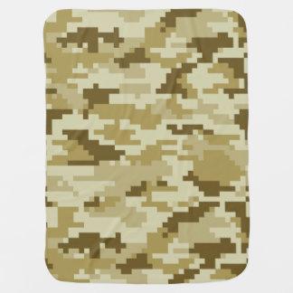 8 Bit Pixel Desert Camouflage / Camo Buggy Blanket