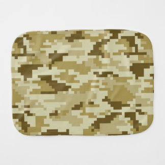 8 Bit Pixel Desert Camouflage / Camo Burp Cloth