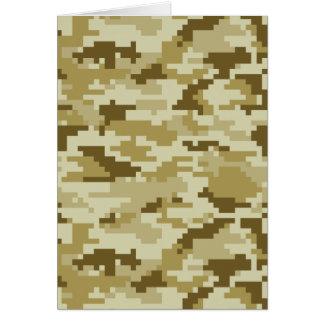 8 Bit Pixel Desert Camouflage / Camo Card
