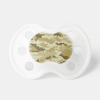 8 Bit Pixel Desert Camouflage / Camo Pacifiers
