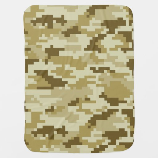 8 Bit Pixel Desert Camouflage Baby Blanket