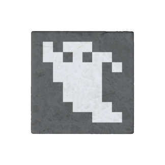 8 Bit Pixel Ghost Stone Magnet