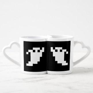 8 Bit Pixel Ghost Lovers Mug Sets