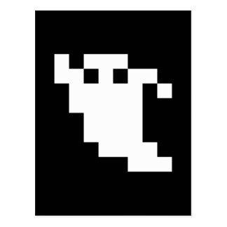 8 Bit Pixel Ghost Postcard