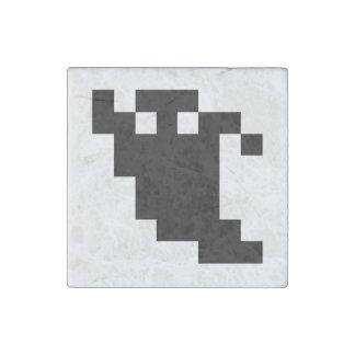 8 Bit Pixel Ghost Shadow Stone Magnet