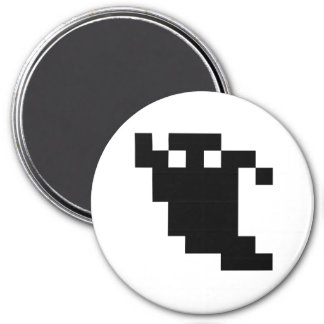 8 Bit Pixel Ghost Shadow Refrigerator Magnets
