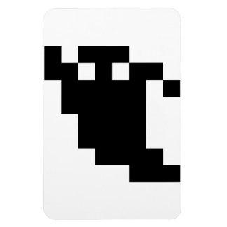 8 Bit Pixel Ghost Shadow Magnet