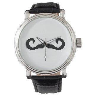 8 Bit Pixel Handlebar Moustache Watch