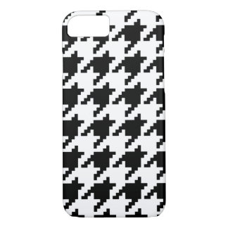 8 Bit Pixel Houndstooth Check Pattern iPhone 8/7 Case