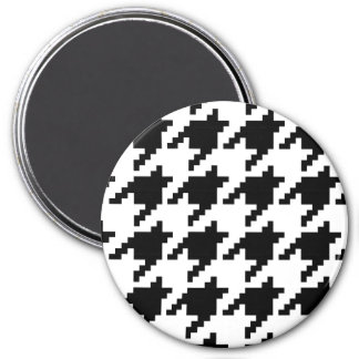 8 Bit Pixel Houndstooth Check Pattern Magnet