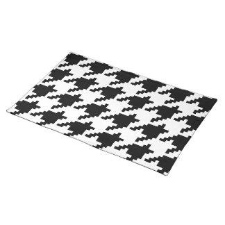 8 Bit Pixel Houndstooth Check Pattern Placemat