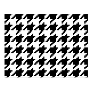 8 Bit Pixel Houndstooth Check Pattern Post Card