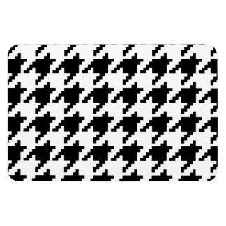 8 Bit Pixel Houndstooth Check Pattern Vinyl Magnet
