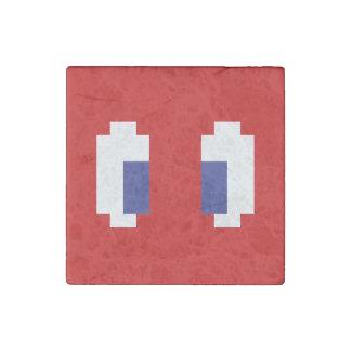 8 Bit Pixel Manga Eyes Stone Magnet