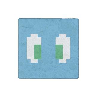 8 Bit Pixel Manga Green Eyes Stone Magnet