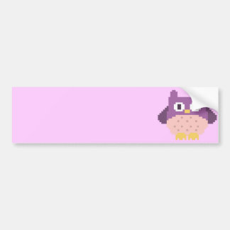 8-bit Pixel Owl Sprite Bumper Sticker