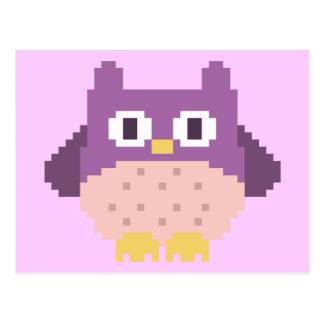 8-bit Pixel Owl Sprite Postcard