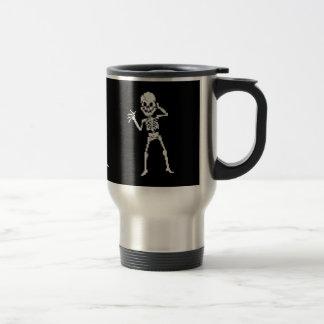 8-bit Pixel Skeleton Sprite Coffee Mug
