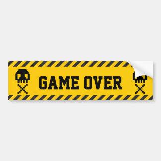 8-bit Pixel Skull Bumper Sticker