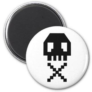 8-bit Pixel Skull Refrigerator Magnet
