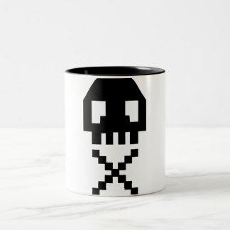 8-bit Pixel Skull Mug