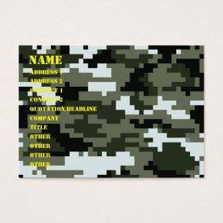 8 Bit Pixel Urban Camouflage / Camo Business Card
