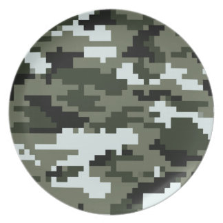 8 Bit Pixel Urban Camouflage / Camo Plate