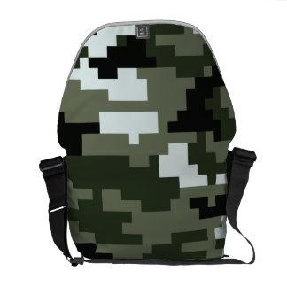 8 Bit Pixel Urban Camouflage Courier Bags