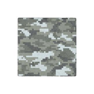 8 Bit Pixel Urban Camouflage Stone Magnet
