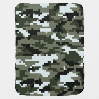 8 Bit Pixel Urban Camouflage Receiving Blankets