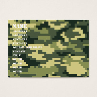 8 Bit Pixel Woodland Camouflage / Camo Business Card