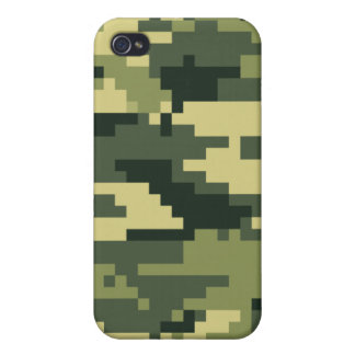 8 Bit Pixel Woodland Camouflage / Camo iPhone 4 Cover