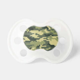 8 Bit Pixel Woodland Camouflage Baby Pacifier