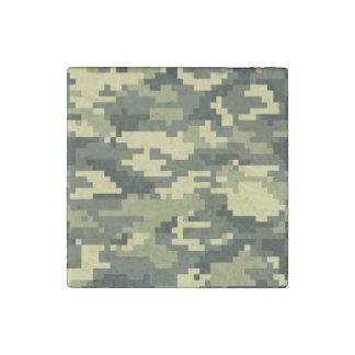 8 Bit Pixel Woodland Camouflage Stone Magnet