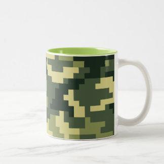 8 Bit Pixel Woodland Camouflage Mugs
