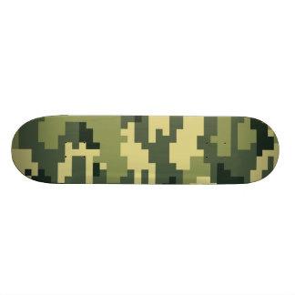 8 Bit Pixel Woodland Camouflage Skateboard Skateboard Deck
