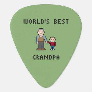 8 Bit Pixel World's Best Grandpa Guitar Pick